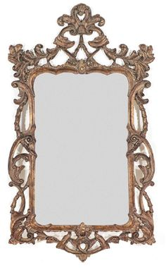 Decorative Traditional Rectangular Bronze Antique Wall Mirror