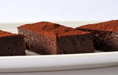Chocolate, fudge and Cornish sea salt brownies