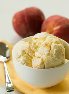 Fresh Peach Ice Cream - Brown Eyed Baker - A Food & Cooking Blog