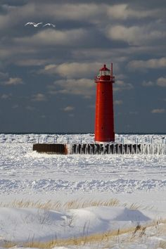 Muskegon Michigan.  I thought I would move here in my early 20's to start my life!  Promptly came back to Oregon three short months later!  This is a picture of the frozen Lake Michigan...brrr!