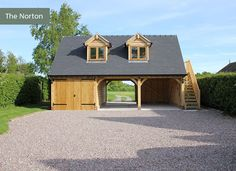 the norton cheshire oak structures bespoke brickwork garage office