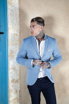 Model Stephen James for Stefan Fashion