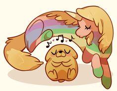 Adventure Time. Jake and Lady Rainicorn.