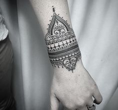 Mandala wrist tattoo think ink pinterest wrist tattoos tattoo bracelete thecheapjerseys Image collections