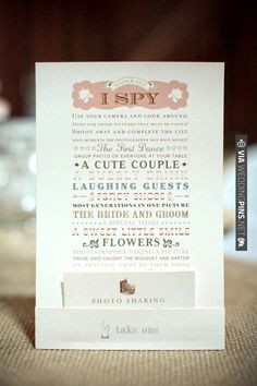 i spy ... | VIA #WEDDINGPINS.NET
