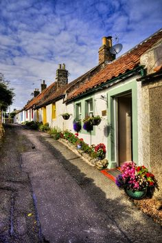 Kilrenny Village, Fife, Scotland between Crail and Anstruther. Look out for the cream teas sign at the kirk on Sunday