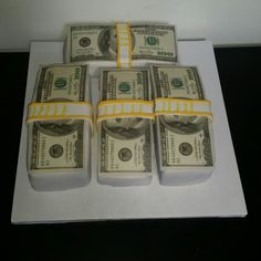 Stack of money cake