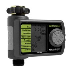 Mister Landscaper 1-Program Digital Hose End Timer  Timer has a 3/4-in female swivel hose thread inlet with a 3/4-in male hose thread outlet that is des…
