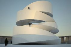 Spiral Architecture: 12 Swirling Building Buddhist temple in Taichang, China Form Architecture, Monumental Architecture, Futuristic Architecture, Sustainable Architecture, Spirals In Nature, Monuments, Bridge Design, Buddhist Temple, Beautiful Buildings