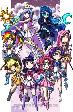 FiM + Sailor Moon crossover art... - My Little Pony Trading Post. Awesome!