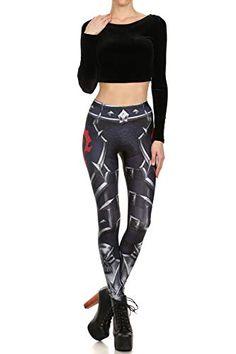 4b0ebadf2b4b7 New Leggings Donna Stampati 3D Black Robot Fibbia Totem Leggins misteriosi  Pantalone Yoga Collant Legging per