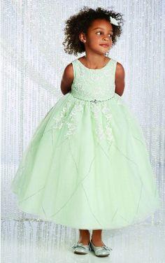 Tulle Jewel Empire Tea-length Ball Gown Flower Girl,Bridesmaid Dresses