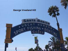 The Santa Monica Pier. Photo by, George Vreeland Hill Fishing Boats, Santa Monica, California, Convertible Fishing Boat, Bass Boat
