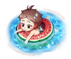 Haikyuu!! Little Suga and the Sea by Suncelia