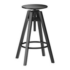 Black bar stool: In place of red stools ...