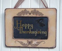 Happy Thanksgiving antiqued mirror sign by BusterJustis