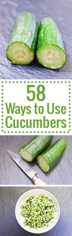 Stuck in a rut with a glut of cucumbers? Here are 58 inspired recipe ideas to cook with your cukes.