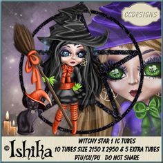 Witchy Star 1 IC Tubes (FS/CU) [CCD] : Scrap and Tubes Store, Digital Scrapbooking Supplies Scrapbook Supplies, Digital Image, Creative Design, Digital Scrapbooking, Chibi, Tube, Stars, Artist, Anime