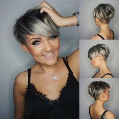 14 x Super Trendy grau Frisuren - kurzhaarfrisuren Frauen
