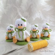 Crocheted Easter Ducks