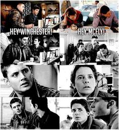 Supernatural is obsessed with Back To The Future :P