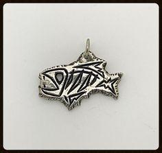 Handmade Skeleton Fish Silver Tag Pendant | eBay