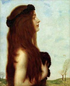 art-is-art-is-art:  The Melancholy Spirit, Franz von Stuck