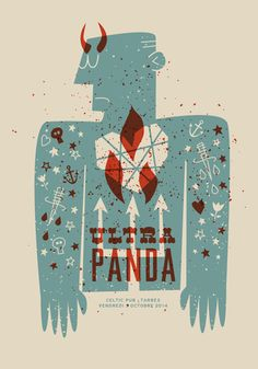 Ultra Panda gigposter designed by Jean Mosambi. the global community for designers and creative professionals. Celtic, Panda, Hello Design, Canvas Prints, Framed Prints, Type Posters, Concert Posters, Gig Poster, Beautiful Posters