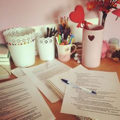 study-samurai:  baby-purple:  Guys I'm studying for my final exam ever :D after tomorrow I done with school for good!  Omg! I use the flowerpots from IKEA as a stationary holder too! hahah :) AND BEST OFF LUCK.