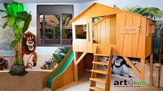 Habitación temática cama cabaña