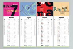 #calendar #typografy #2014 #caslon #grotesque #gotham #rockwell #1934 #2000 #1722 #1832 #tradegothic #font - Calendar Skriba 2014 - Typography - Copyright Studio Skriba - www.skriba.it
