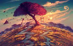1440x900 El árbol de Sakura