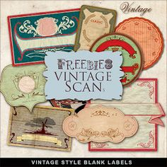 Free vintage labels!  Awesome site with tons of free stuff!!!