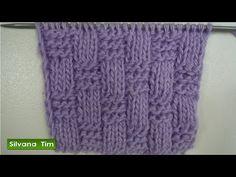 Tutorial de tejido con dos agujas # 223. Punto (puntada) LINEAS en DIAGONAL. - YouTube