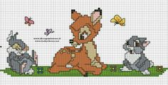 Bilderesultat for patterns for cross stitch disney christmas Baby Cross Stitch Patterns, Cross Stitch For Kids, Cross Stitch Baby, Cross Stitch Charts, Cross Stitch Designs, Bambi Disney, Kids Patterns, Canvas Patterns, Cross Stitching