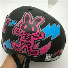 Bike rabbit. 'BABBITRUN' Extreme brand character helmet tuning skin graphicer design. Designed by DOLDOL.  www.graphicer.com.  #Snowboard #skateboard #sk8 #longboard #surf #hiphop #bike #graphicer #mtb  #스노우보드 #롱보드 #그래피커 #토끼 #할리퀸 #헬멧 #graffiti #character #돌돌디자인 #일러스트 #rabbit #stickers #인스타그램 #cheetha #runing #illustration #헬멧스티커 #helmet #스노우보드스티커 #바빗런 #babbitrun #헬멧스티커