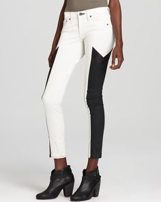 rag & bone/JEAN Leggings - Grand Prix Motocross Panelled Leggings in Winter White | Bloomingdale's