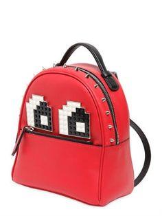 les petits joueurs - women - backpacks - micro mic eyes leather backpack