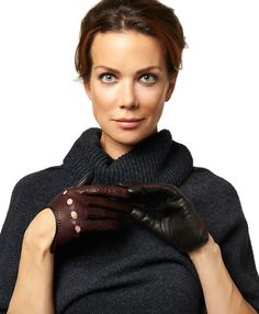 Driving open back gloves