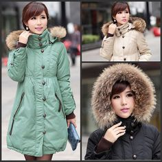 !!!!!!!  Fashion Warm Plus size Fur Windproof High Collar Jacket for Pregnant women Outwear Maternity winter down coat clothing clothes-in Coats from...
