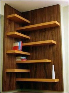 10+ Best Bookshelf Ideas for Creative Decorating Projects  Looking for corner bookshelf ideas? Check the gallery inside. You'll find other design of bookshelf too. :)  #Book #Rack #Bookshelf #Bookshelves  #easy #DIY #corner #shelves #livingroom