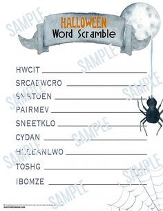 Halloween Word Scramble Game Free Printable Halloween Word Scramble Source by somewhatsimple Diy Halloween Gifts, Diy Halloween Home Decor, Halloween Decorations For Kids, Halloween Words, Diy Holiday Gifts, Halloween Projects, Holidays Halloween, Halloween Fun, Halloween Activities