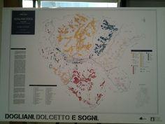 #lafusina vi presenta la cartina dei vigneti di #dogliani fatta da Masnaghetti