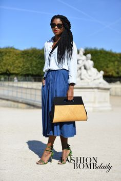 Real Street Style: Paris Spring 2015 Fashion Week Part 1 | The Fashion Bomb Blog : Celebrity Fashion, Fashion News, What To Wear, Runway Show Reviews