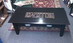 Led Zeppelin hand crafted table -awesome Christmas present for your rocker