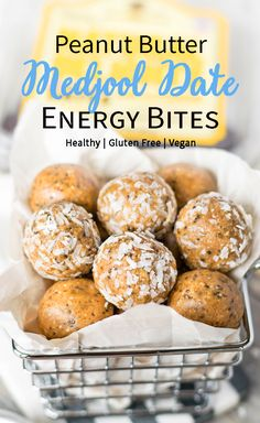 Peanut Butter Medjool Date Energy Bites are an easy, portable way to snack healthy! Creamy peanut butter and sweet dates, combined with oat flour, coconut flour, and chia seeds make for the perfect post-workout or office snack. Bonus? It's free of refined