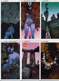 ❤︎ Tarocchi delle Origini Tarot Decks, Google Search, Movie Posters, Beautiful, Art, Witches, Occult, Illustrations, Art Background