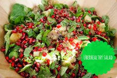 Überhealthy salad met gepofte aubergine