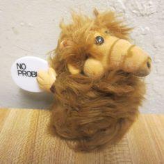 Vintage Alf the Alien TV Series Russ 4'' Plush Clip on Hugger Pencil Grabber #Russ