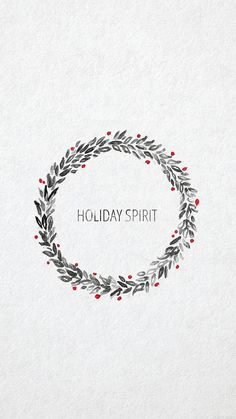 ↑↑TAP AND GET THE FREE APP! Holidays Quotes Minimalistic Holiday Spirit Simple Christmas Wreath White HD iPhone 6 Wallpaper